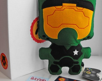 Monsterfelt Project-Master Chief 3S-Soft cloth Doll-Spartan Soldier-handmade soft toys-handcrafted soft Toys