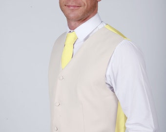 Lemon Wedding / Prom Waistcoat available with Matching Items by Matchimony