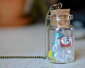 Soda Pop Cans - Bottle Necklace