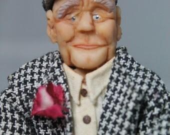 OOAK Sassy Senior Citizen Doll, Hand Sculpted, original, hand made