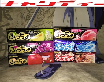 Puccho Soft Chewy Japanese Candy Variety Pack 6 Flavors + 40 Pieces of Random Japanese Candies = 100pcs Total!!!
