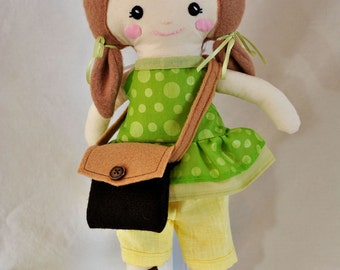 Soft Dress Up Doll in Green