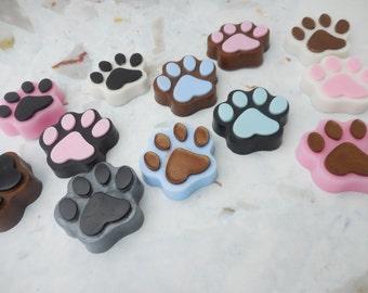 Paw Soaps - Dog Print Soap - Paw Print Soap - Decorative Soap - Kids Soap - Birthday Party Favors - Dog Lover Gift - Glycerin Soap - 5 pk
