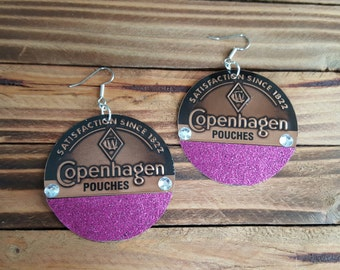 Copenhagen Pouches Merry Magenta Earrings