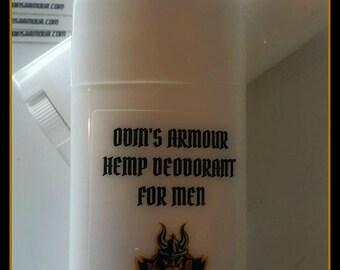 HEMP DEODORANT For Men, Handmade Organic Natural Deodorant, Aluminum Free Deodorant, All Natural Men's Deodorant