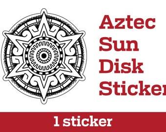 Aztec Sun Disk Sticker