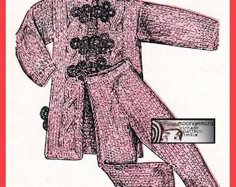 PDF Barbie Fashion Teen Doll Pajamas Knitting Pattern Instant Download