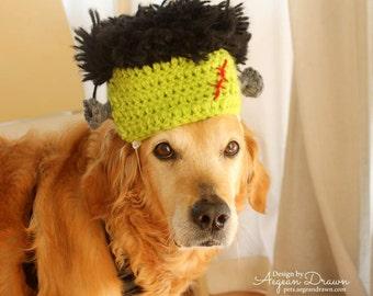 Frankentstein Hat for Dogs, Halloween Costume for Large Dogs, Frankenstein Dog Costume, Monster Costume for Dogs, Halloween Pet Costume