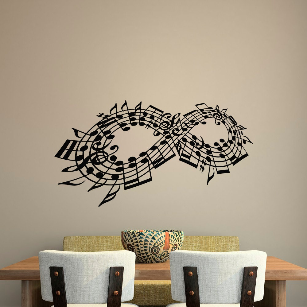 Home Art Decor Wall Decals ~ Wall decal music note decals stuff infinity symbol