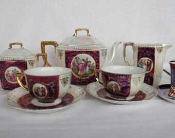 antique tea set 7 pieces