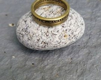 New Hampshire toll booth token ring size 7.5