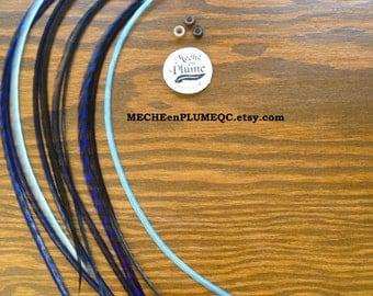 Feather Extension /Blue -BabyBlue -Navy Blue /Ocean Fairy Feathers