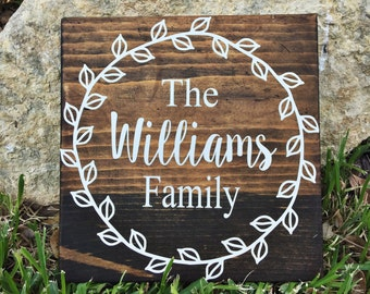 Personalized Family Name Sign | Last Name Sign | Family Name Sign | Last Name Wood Sign | Personalized Family Name | wedding gift | Newlywed