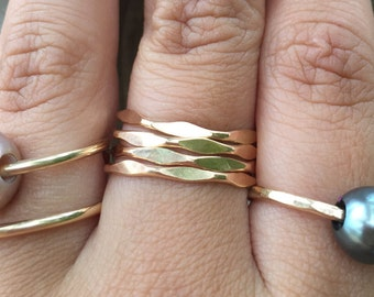 Textured Stackable rings
