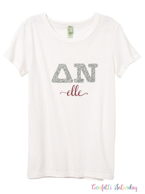 Greek letter iron on decal greek letters by confettisaturday for Where to buy greek letter shirts