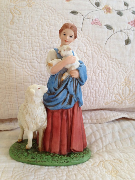 home interiors figurine 8870 shepherd s daughter by
