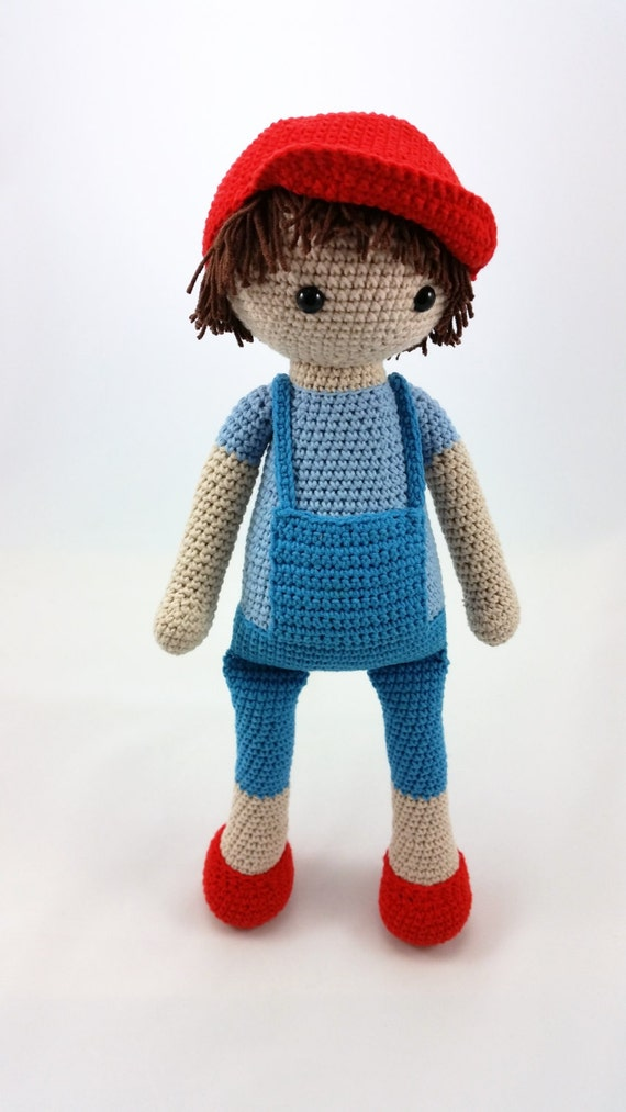 Crochet boy doll amigurumi doll crocheted doll toy