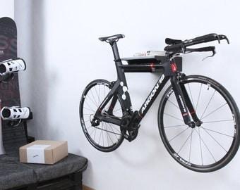 Berlin - wooden bike shelf / bike mount / bicycle storage / black