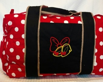 Large Travel Tote Overnight Bag, Durable  - Disney Minnie Inspired