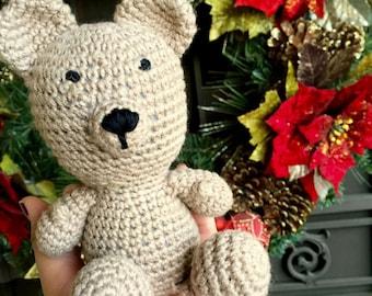 Light Brown Crochet Teddy Bear
