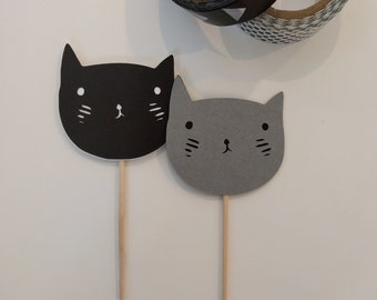 Kitten Cupcake Toppers {set of 12}