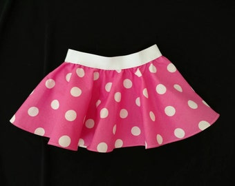 Minnie Mouse Skirt - Pink Minnie Mouse - Pink Polka Dot Skirt