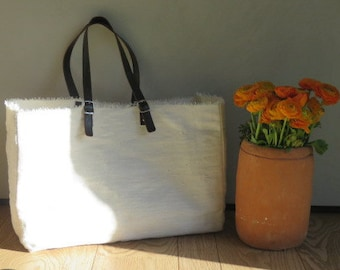 Summer bag White Canvas Tote Bag-FARMERS MARKET Tote-Shulder Bag-Oversize Tote-Shoulder bag
