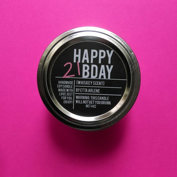 Happy 21st Birthday Candle 21st Birthday Gift Bday By