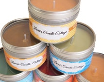 Tin Soy Candles Assorted Scents, 4oz Tin Candles, Gift Candles, Travel Candles, Vegan Friendly Candle