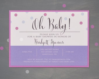 Oh Baby! - Baby Shower Invitation -Printable