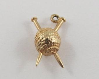 Skein of Yarn 14 Karat Gold Vintage Charm For Bracelet