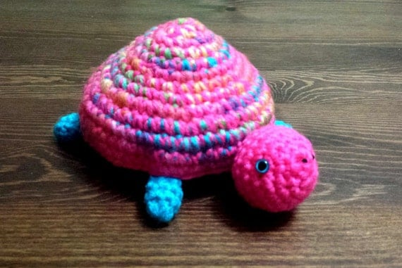 Amigurumi Yarn : Crochet Turtle Amigurumi Acrylic yarn by Baileyscrochetcrafts