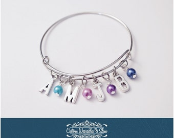 Mother's Day Initial Bangle bracelet!
