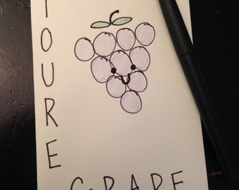 You're Grape Punny Thank You Card
