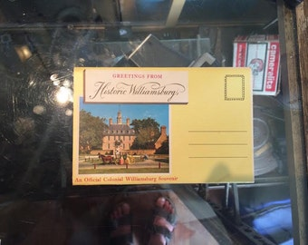 Booklet of Williamsburg Postcards