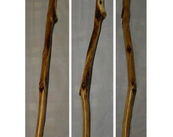 61.5 in. Tall Wooden Diamond Willow Hiking Stick 18 Wood Diamonds Trekking Pole Walking Stick Hiking Cane Wizard Staff Father's Day Gift
