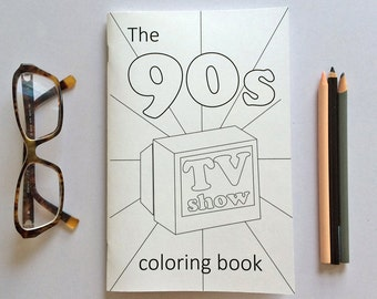 90s TV Show Coloring Book - Favorites - Fun!