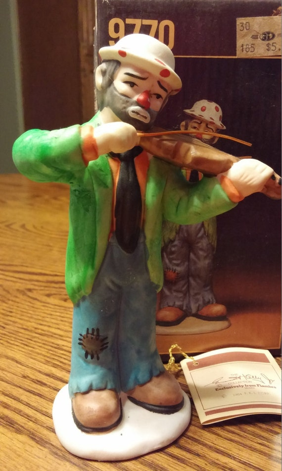 Emmett Kelly Jr Figurine Signature Collection 9770 E With