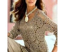 crochet tunic pattern,crochet motifs pattern,lace beach tunic PDF,crochet cover up pattern,crochet lace tunic ,crochet cover up tutorial