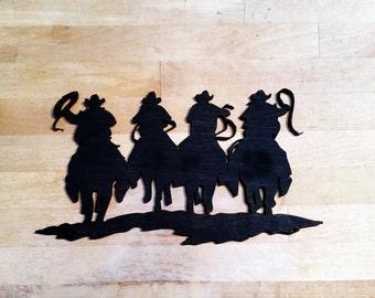 Cowboys Riding Horses Laser cut out| Cowboys |Horses