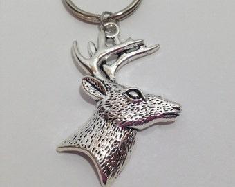 Fathers Day Gift, Deer Head, Deer Hunting Gift for Hunter Deer Hunter Boyfriend Gift Dad Gifts, Husband Gift, Hunting Jewelry, Deer Keychain