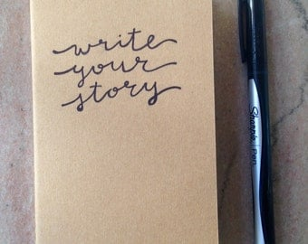 "pocket moleskine notebook ""write your story"""