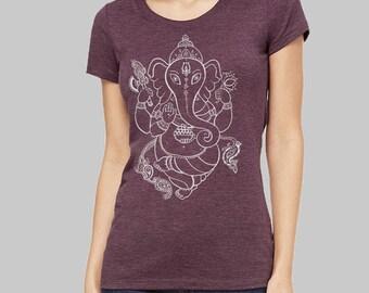 Ganesh, Ganesh Tshirt - yoga tee, buddhist, graphic tee, yoga t shirt, womens, t shirt, yoga tshirt, graphic tees