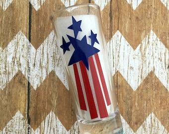 Patriotic Shot Glass, Personalized Shot Glass, Fourth Of July Shot Glass, Fourth of July,  Patriotic Shot Glass, American Pride Shot Glass,
