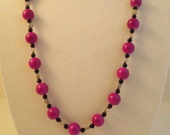 Long Purple Necklace - Purple Earrings - Long Necklace - Purple Necklace - Purple Jewelry Set - Women's Jewelry Set - Purple Jewelry Set