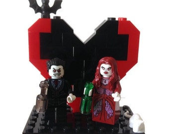 Lego Goth Zombie Wedding Cake Topper Halloween Vampire Includes Glow in the Dark features Customised