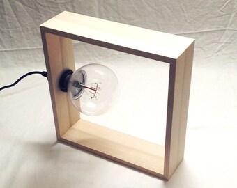 "Modern Square Lamp - 13""x13"""