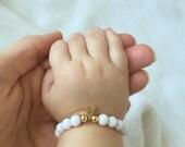 Mommy and me Bracelet, Personalized Mommy and Baby Braclet, Customizable bracelet, Jade braclet, Baby bracelet
