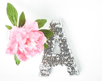sequin letter glitter letter sparkly letter letter prop wedding letter gift for girl