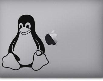 Tux the Linux Penguin vinyl decal/sticker for car, window, computer / laptop / Macbook, wall, and more!